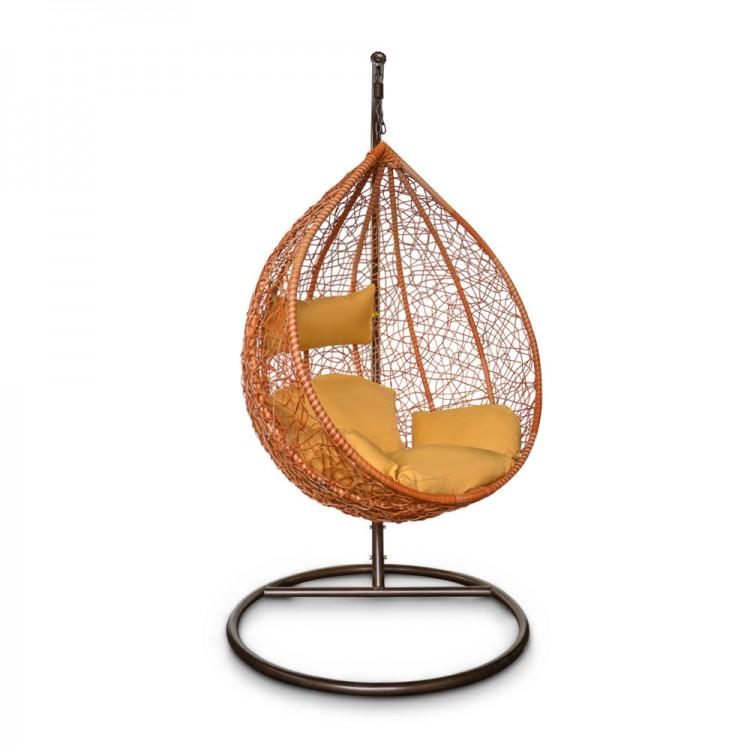 Подвесное кресло KVIMOL KM 0001 средняя оранжевая корзина фото