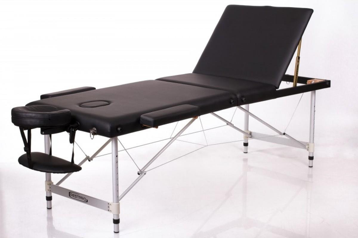 Складной массажный стол RESTPRO ALU 3 Black фото