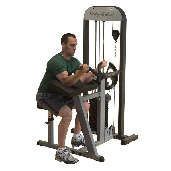 Блочный тренажер Body Solid бицепс-трицепс с весовым стеком 95 кг фото