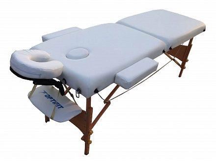 Складной массажный стол Optifit Belleza MT-25 белый