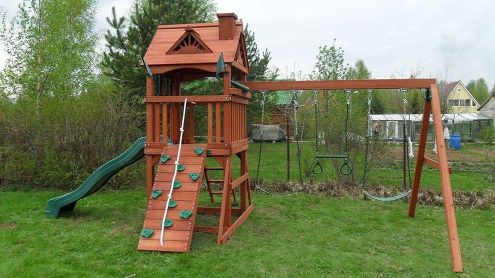 Проект детской площадки для дачи своими руками фото 9