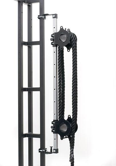 Тренажер для канатов Stecter Двойная бочка с регулировочной стойкой + канат (20м) фото