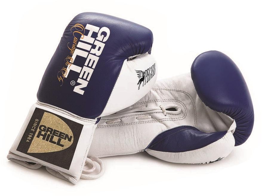 Перчатки боксерские кожаные GreenHill PEGASUS AIBA PRO 10 OZ BGP-2239 Синий фото