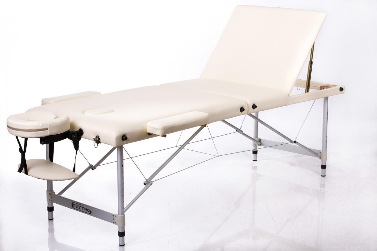 Складной массажный стол RESTPRO ALU 3 Cream фото