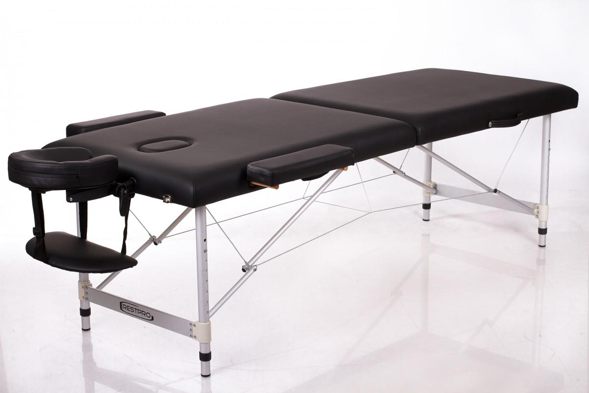 Складной массажный стол RESTPRO ALU 2 (L) Black фото