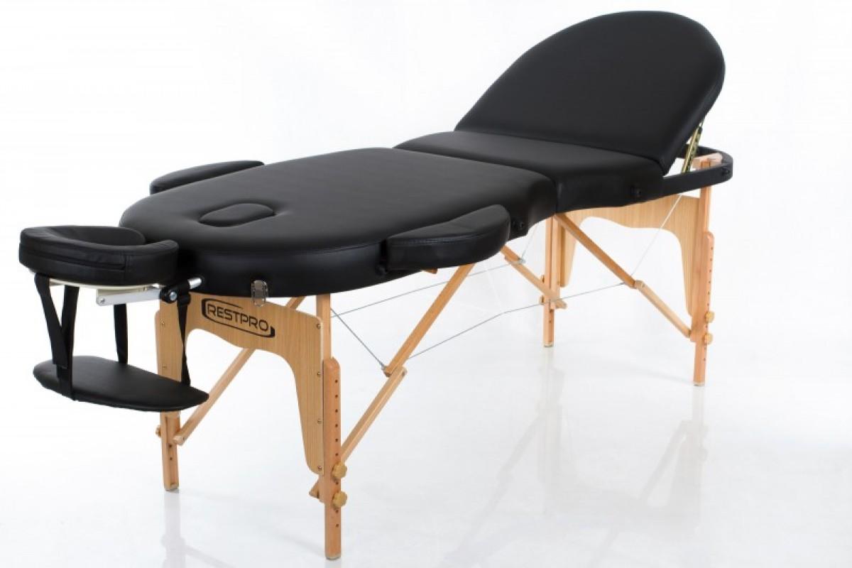 Складной массажный стол RESTPRO VIP OVAL 3 Black фото